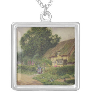 The Coming of the Haycart Square Pendant Necklace