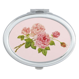The compact mirror of the rose which has the bud