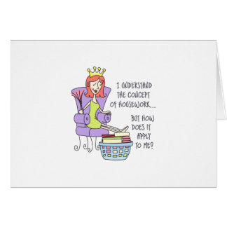 THE CONCEPT OF HOUSEWORK GREETING CARD