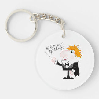 The Conductor Single-Sided Round Acrylic Key Ring