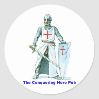 The Conquering Hero Pub Classic Round Sticker