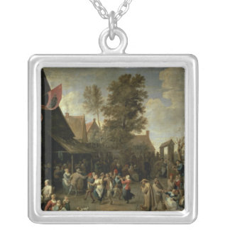 The Consecration of a Village Church, c.1650 Silver Plated Necklace