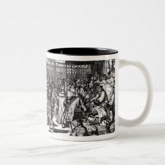 The Coronation of King George I Two-Tone Coffee Mug