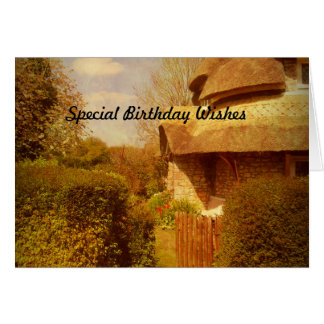 The Cottage Garden. Greeting Card