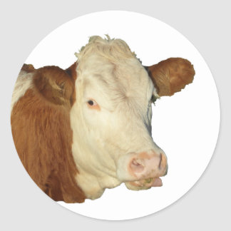 The Cow Classic Round Sticker
