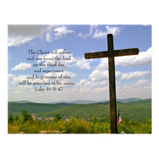The Cross Easter Scripture Postcards