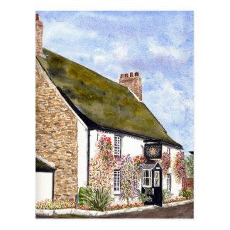 The Crown Inn St Ewe Postcard