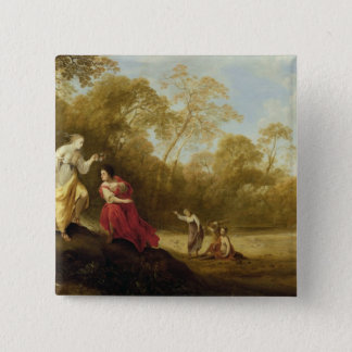 The Crowning of Mirtillo 15 Cm Square Badge