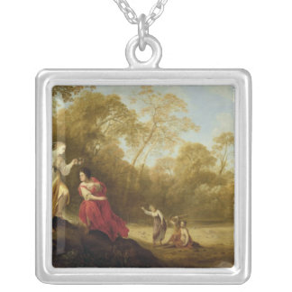 The Crowning of Mirtillo Silver Plated Necklace