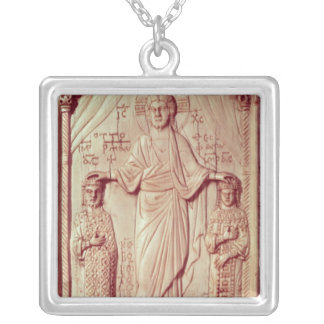 The Crowning of Otto II  and Theophrano Silver Plated Necklace