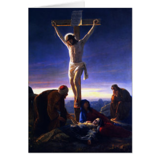 The Crucifixion of Jesus. Fine Art Card Cards