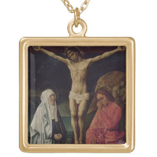 The Crucifixion (panel) 2 Gold Plated Necklace