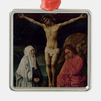The Crucifixion (panel) 2 Silver-Colored Square Decoration