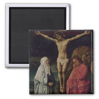 The Crucifixion (panel) 2 Square Magnet