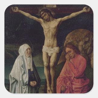 The Crucifixion (panel) 2 Square Sticker