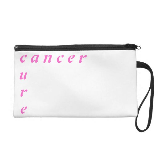 the cure for cancer wristlet clutches