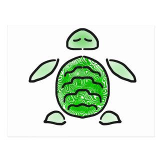 The Cute Green Sea Turtle Postcard
