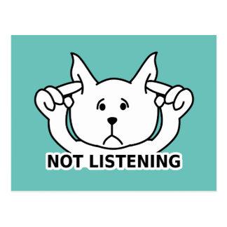 The Cute NOT LISTENING Dog Postcard