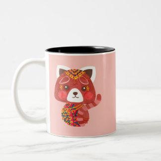 The Cute Red Panda Two-Tone Coffee Mug