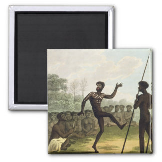 The Dance, aborigines from New South Wales engrave Magnet