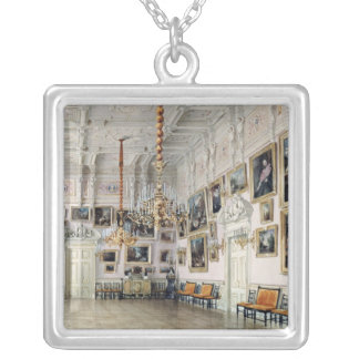 The Dance hall at Count Bezborodko's House Silver Plated Necklace
