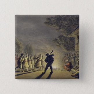 The Dance of the Bulgarian Peasants, pub. by Willi 15 Cm Square Badge