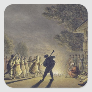 The Dance of the Bulgarian Peasants, pub. by Willi Square Sticker
