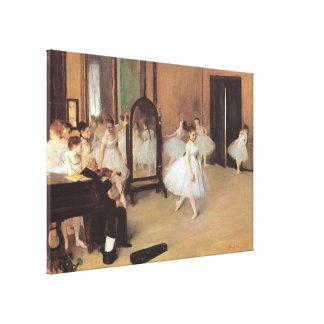The Dancing Class by Edgar Degas, Vintage Ballet Canvas Print
