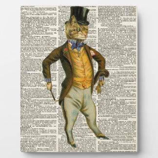 The dapper cat photo plaque