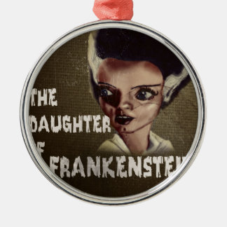 THE DAUGHTER OF FRANKENSTEIN Silver-Colored ROUND DECORATION