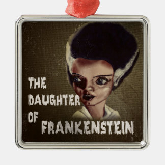 THE DAUGHTER OF FRANKENSTEIN Silver-Colored SQUARE DECORATION
