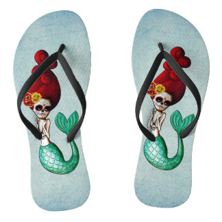 The Day of The Dead Adorable  Mermaid Thongs