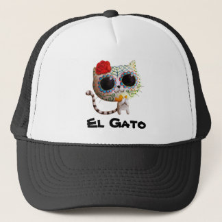 The Day of The Dead Cute Cat Trucker Hat