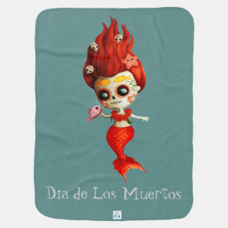 The Day of The Dead Mermaid Baby Blanket