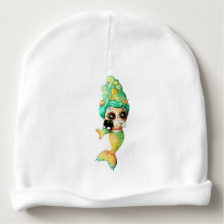 The Day of The Dead Mermaid Girl Baby Beanie
