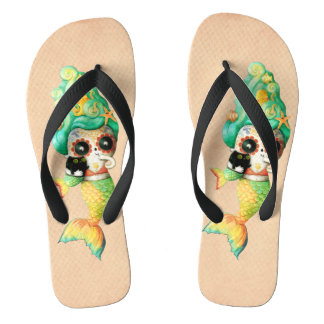 The Day of The Dead Mermaid Girl Thongs