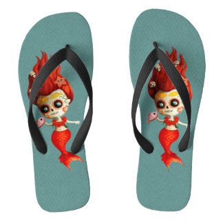 The Day of The Dead Mermaid Thongs