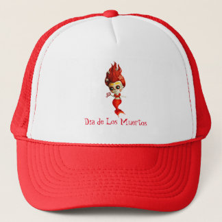 The Day of The Dead Mermaid Trucker Hat