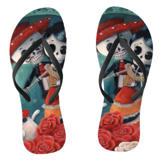 The Day of The Dead Skeleton Lovers Thongs