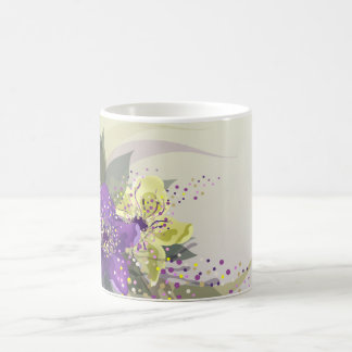The decorative abstract floral mug design