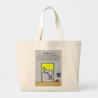 The Definition of 'Horse' Tote. Large Tote Bag