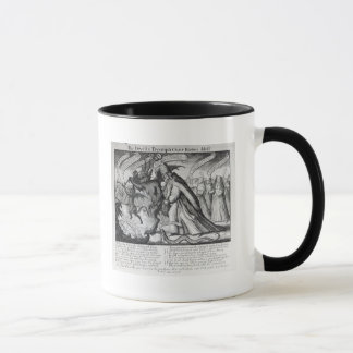 The Devil leading the Pope in Chains, 1680 Mug