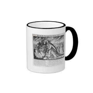 The Devil leading the Pope in Chains, 1680 Ringer Mug