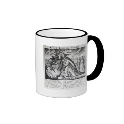 The Devil leading the Pope in Chains, 1680 Mugs