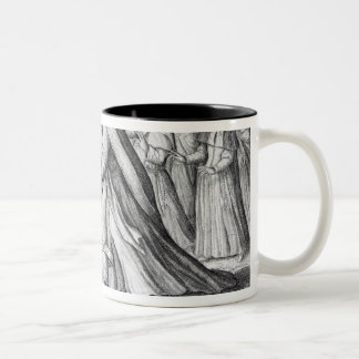 The Devil leading the Pope in Chains, 1680 Two-Tone Coffee Mug