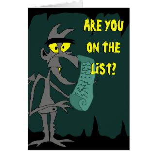 the Devil's List Greeting Card