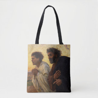The Disciples Peter and John Running Tote Bag