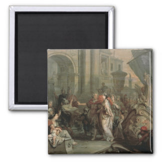 The Disembarkation of Cleopatra at Tarsus (oil on Magnet