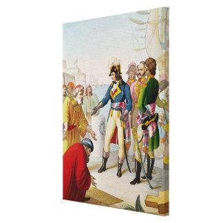 The Disembarkation of Napoleon  at Alexandria Canvas Print