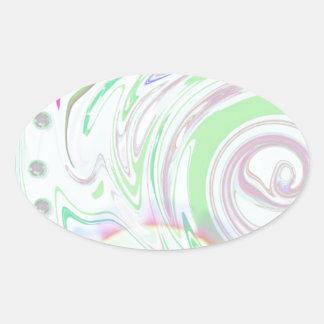 The DNA of Avalon Oval Sticker